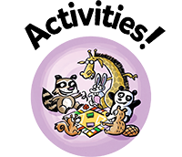 SRC illustrated button, activities.