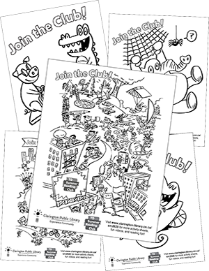 TD SRC colouring sheets.